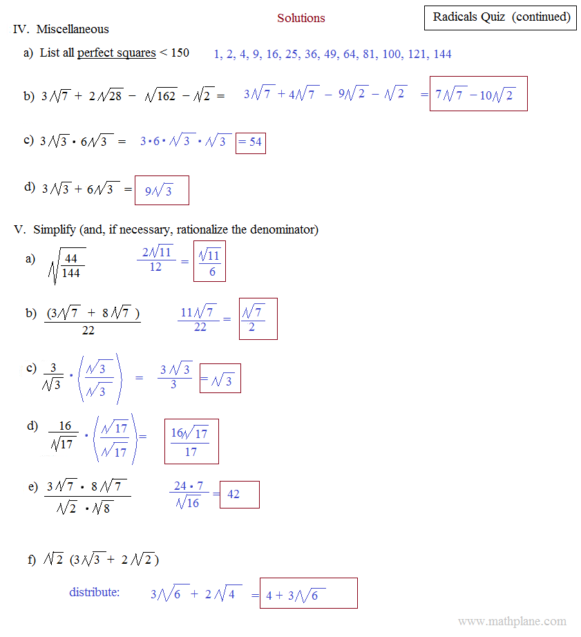 Simplifying Radicals Worksheet Algebra 2 Free Worksheets Library – Radicals Worksheet