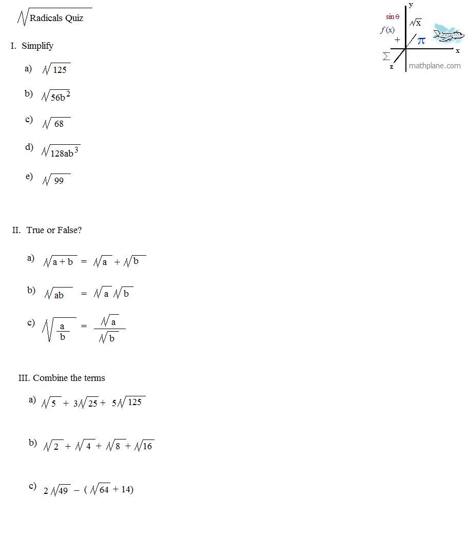 Radicals Lessons Operations With Square Roots Examples And Practice