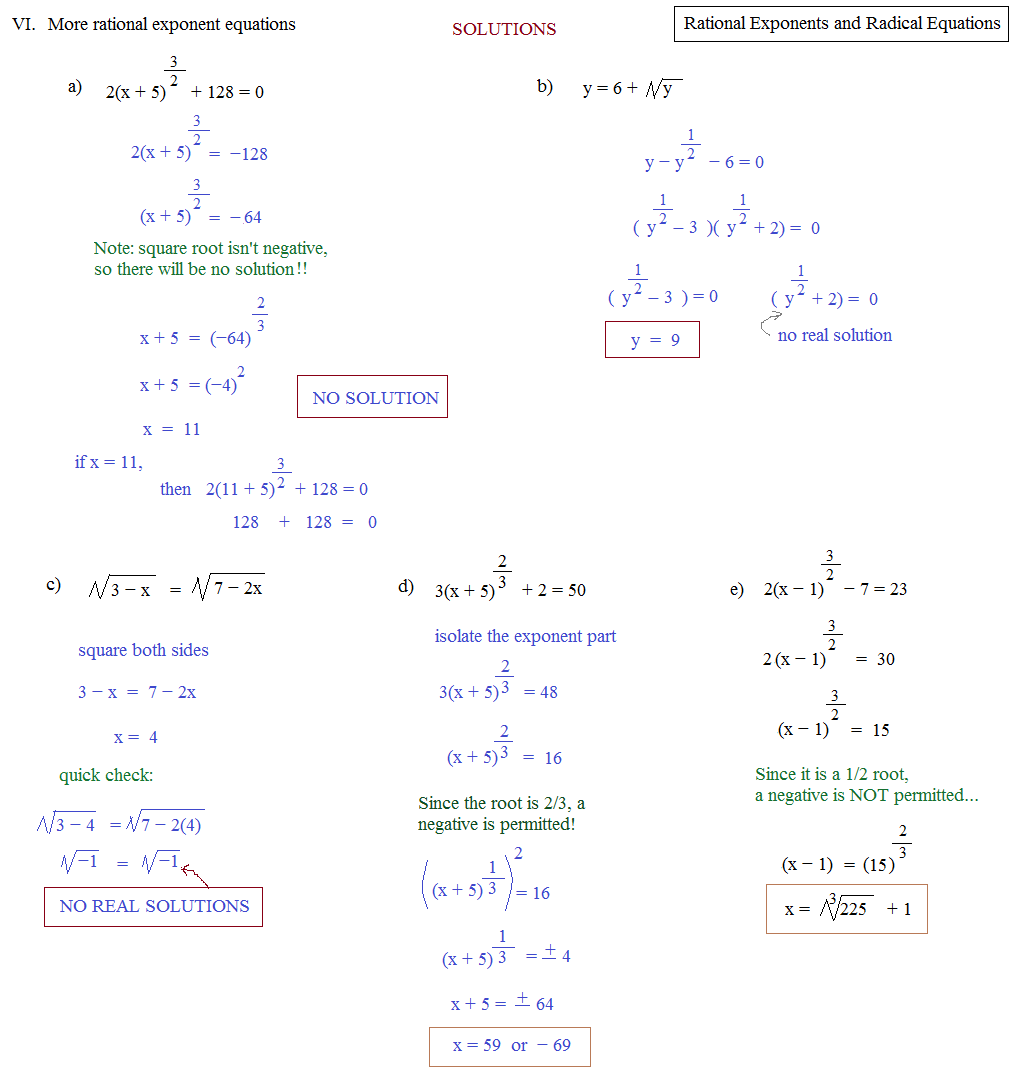 Worksheet Rational Exponent Worksheet math plane rational exponents and radical equations exponent quiz solutions