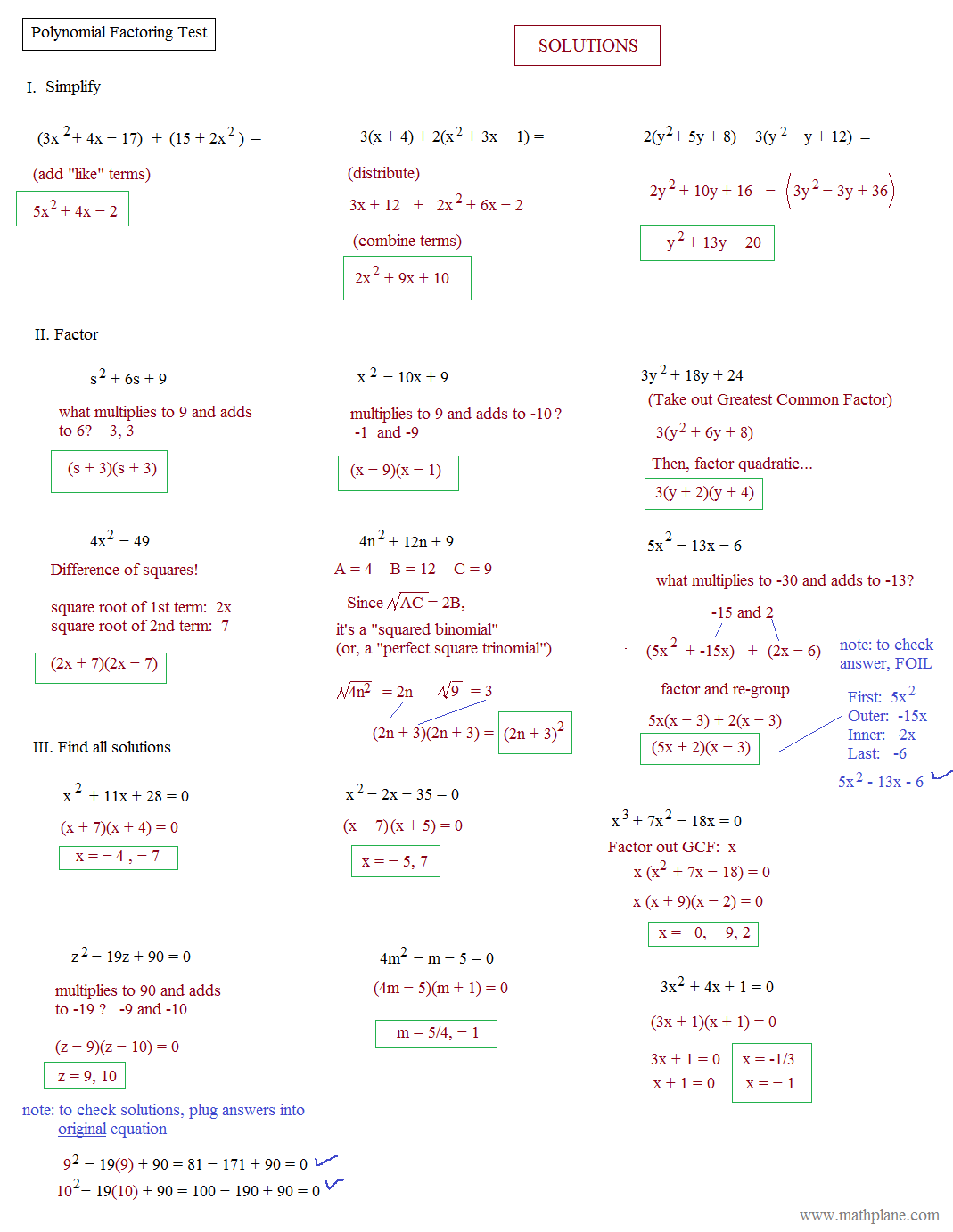 worksheet Factoring Polynomials Completely Worksheet homework help factoring polynomials precalculus review worksheet answers intrepidpath math plane simplifying rational polynomials