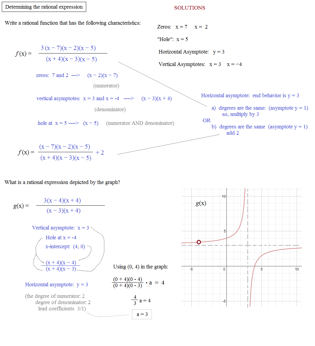 Rational expressions and equations worksheet answers