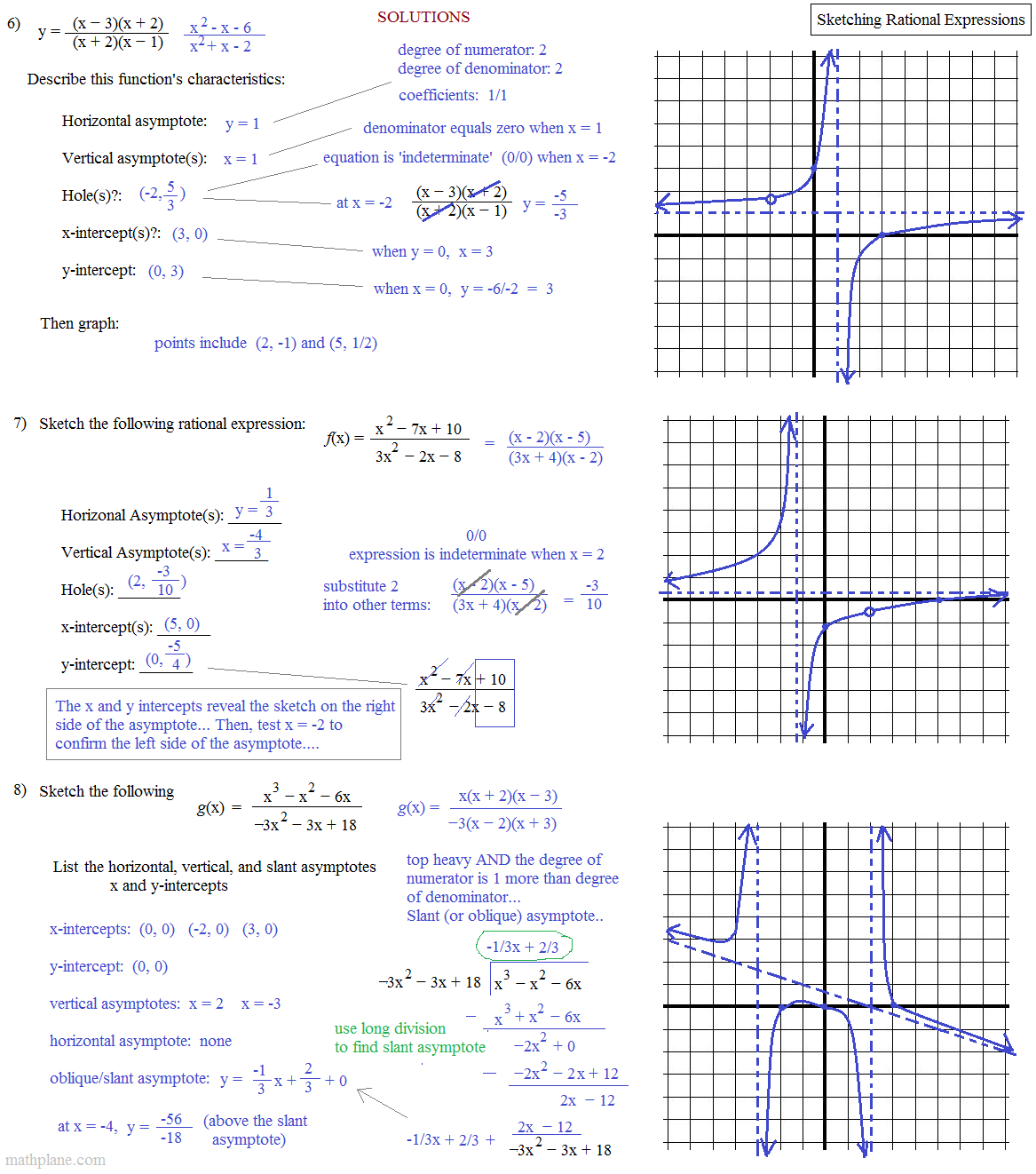 Also Asymptotes And Rational Functions Worksheet Furthermore Graphing ...