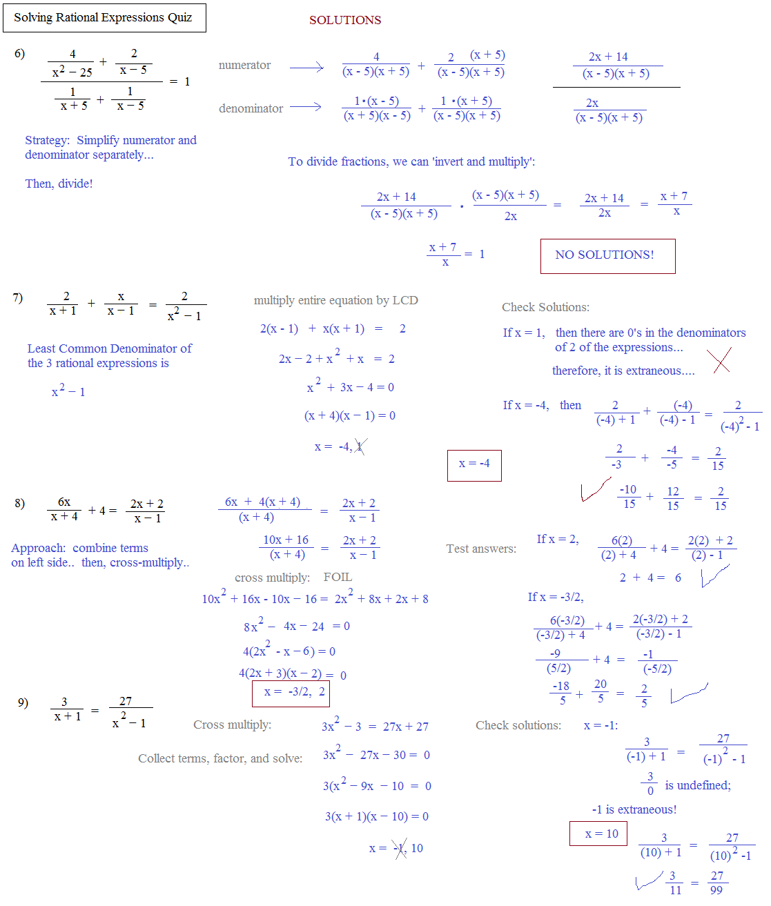 Worksheet Solving Rational Equations Worksheet math plane solving rational equations expressions quiz page 2 solutions