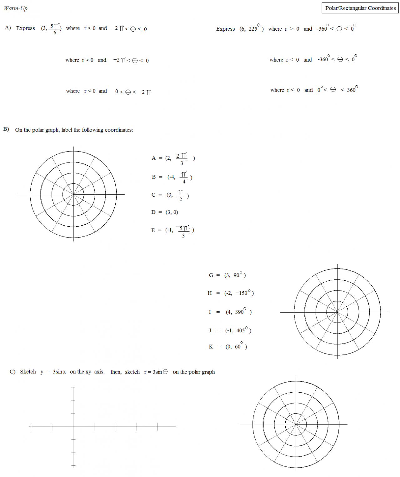 trig_polar_and_rectangle_coordinates_2_warm up.54181445_large math plane polar equations and graphs on quadratic word problems worksheet answers