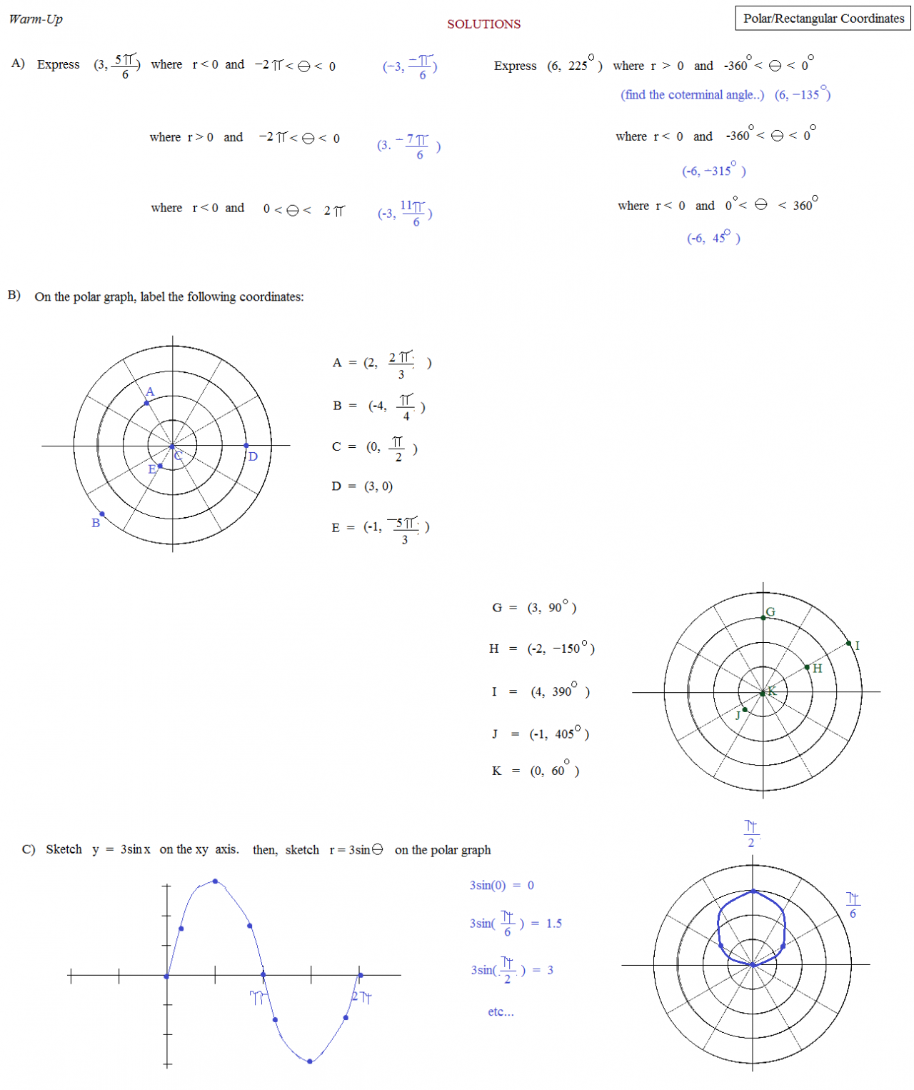 Worksheets Math Warm Up Worksheets 9th grade math worksheets and answers writing fractions worksheet with geometry trig polar rectangle coordinates 2 warm up