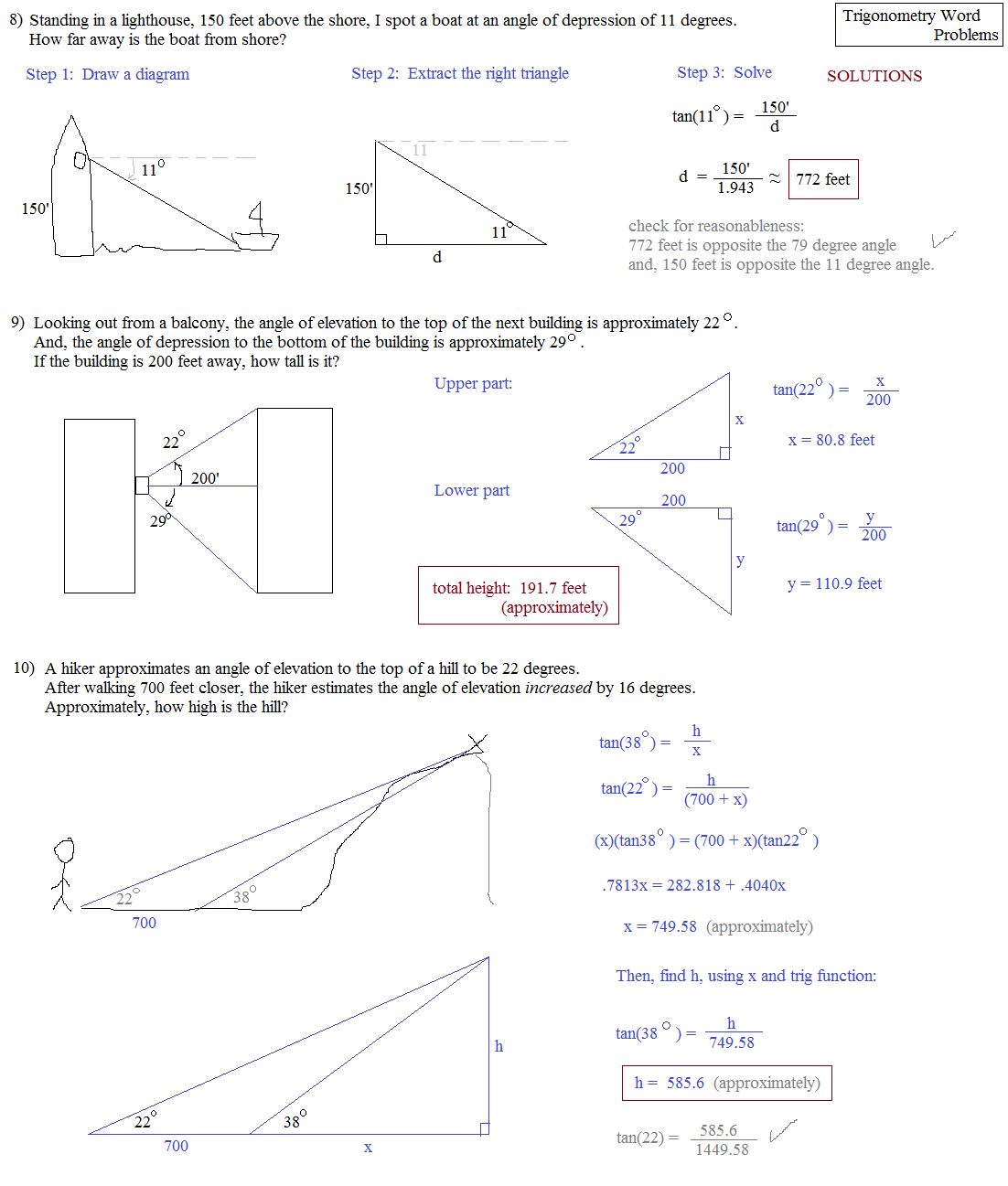 trigonometry questions and answers essay Trigonometry solved problems trigonometric equations  with unlimited questions 4730  i must have answers that you trigonometry equations steps to.
