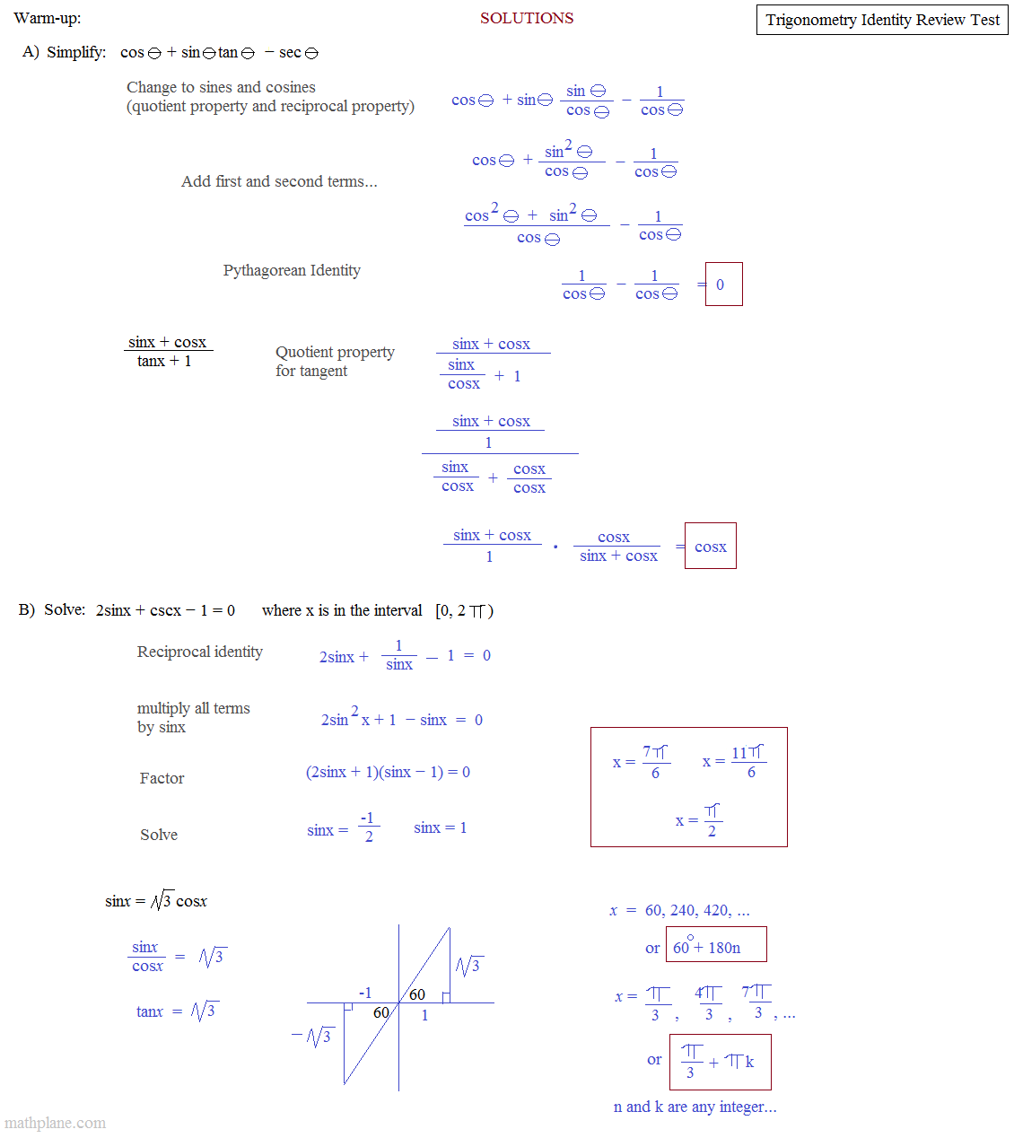 Simplifying Trigonometric Expressions Worksheet The Best And Most
