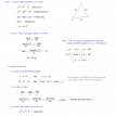 trigonometry law of sines and cosines and geometry illustration