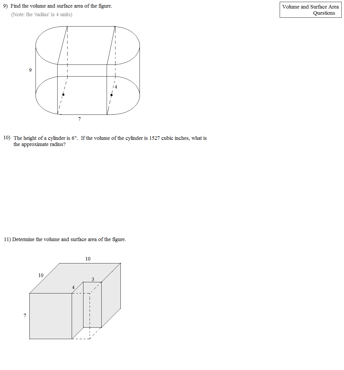 Worksheet Surface Area Of Prisms And Cylinders Worksheet Grass