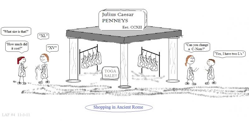 webcomic 4 shopping in ancient rome - mixing roman numerals