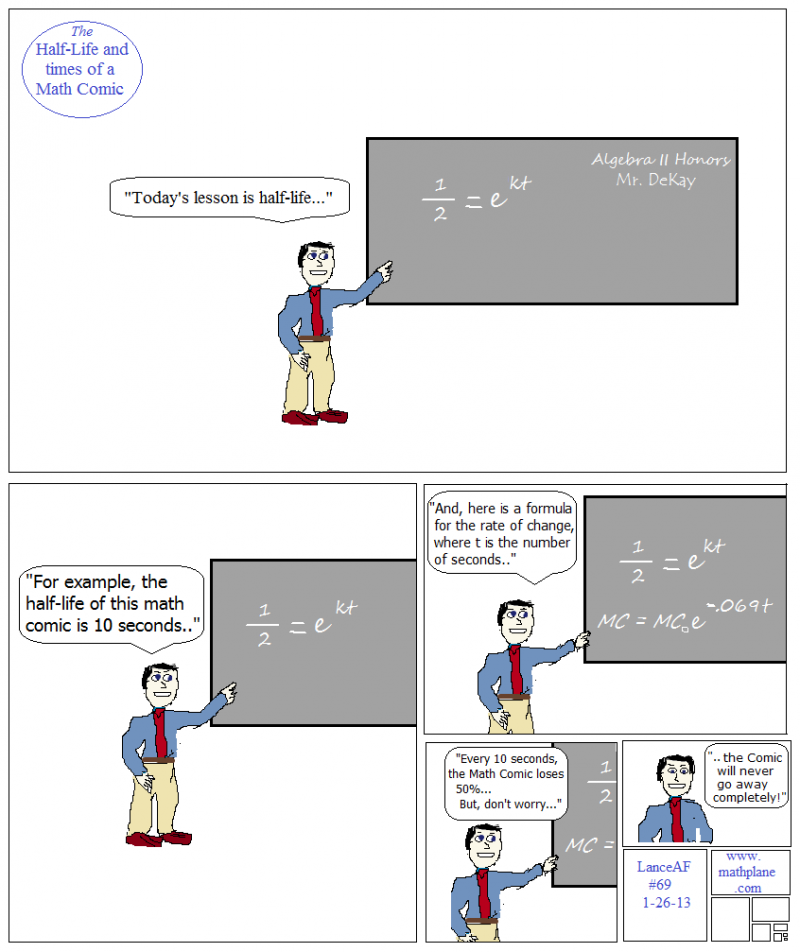 webcomic 69 half life and times of a math comic