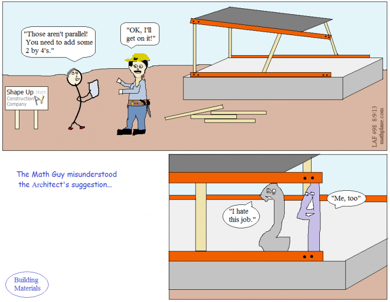 webcomic 98 math construction 2 by 4 architect