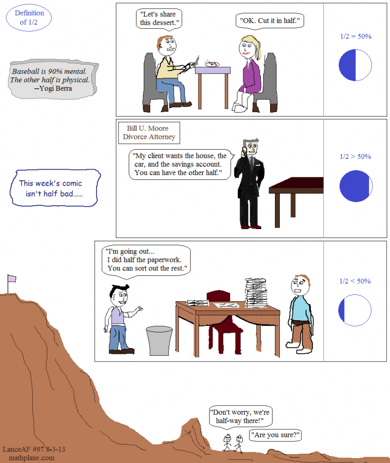 weekly math comic 97 definition of 1/2